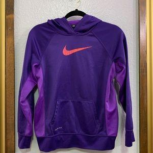 Purple Nike Therma-Fit Pullover Hoodie Purple